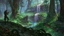 Водопад в глуши Гратвуда