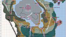 Карта Морровинда времен разработки игры