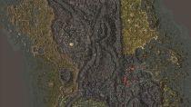 Внутриигровая карта Вварденфелла