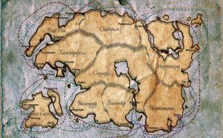 Карта морских торговых путей Тамриэля (4 эра)