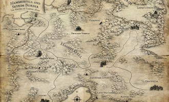 Карта смежных провинций (TES Travels: Shadowkey)