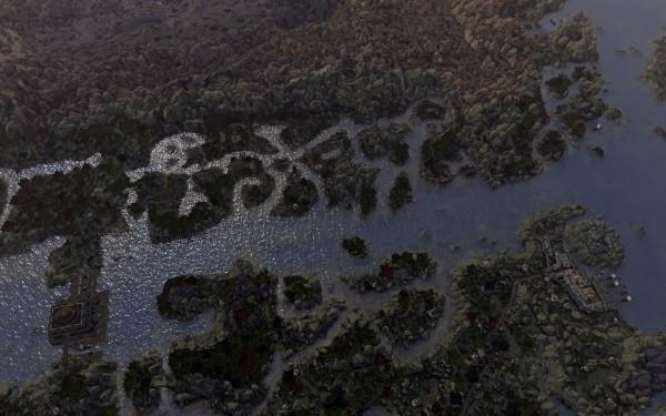 Река Тирр – важнейший путь сообщения в южном Морровинде.