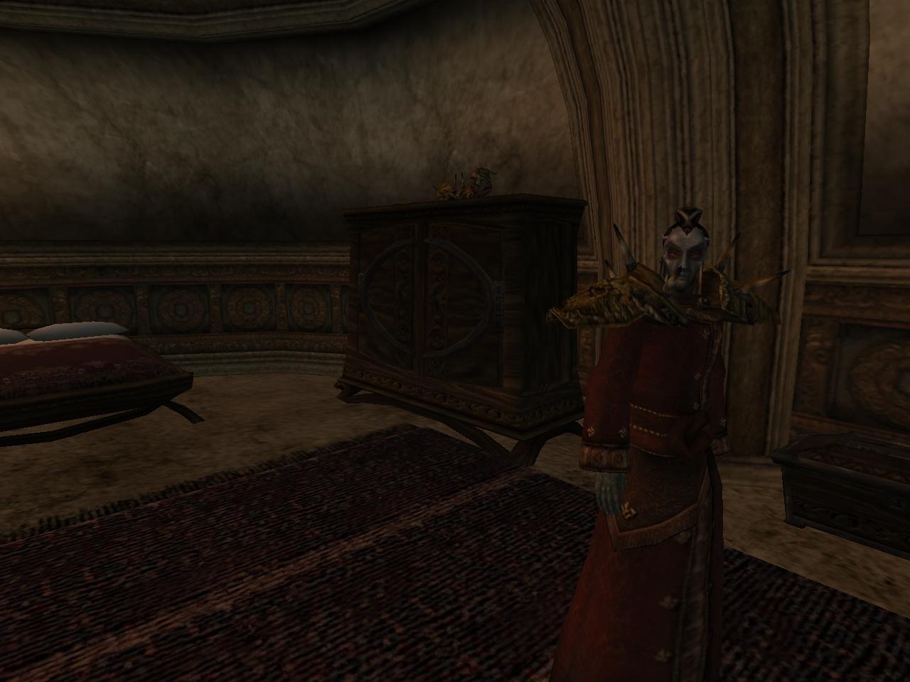 Шлем Мастера на шкафу в поместье Аробар