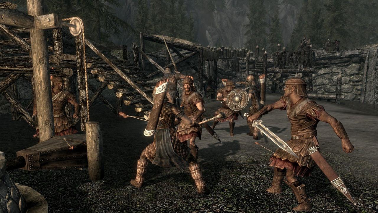 Как сделать битвы в скайриме